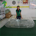 Fatory Price Newest Durable Inflatable Clear Mattress / Easy Folding Transparent PVC Blowed Air Bed
