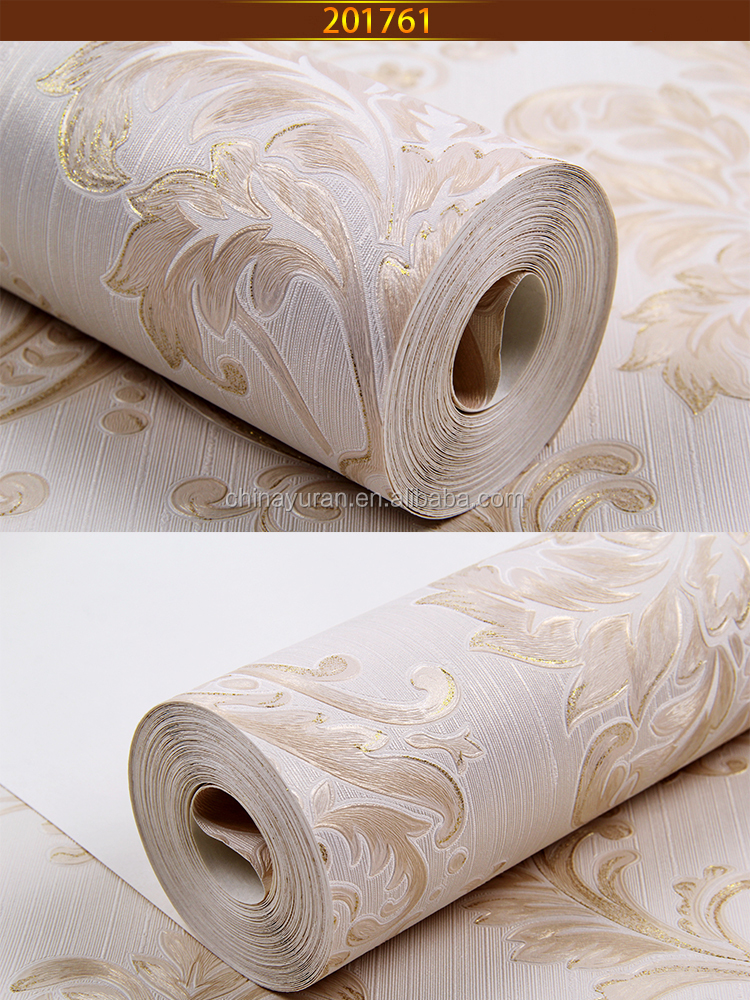 china supplier deep embossed pvc 3D effect wallpaper for interior decoration