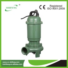 sewage pump with electric motor cooling impeller