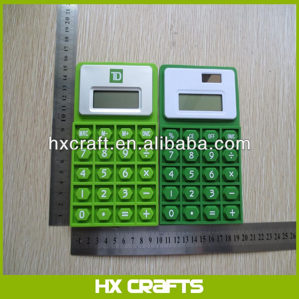 2014 New Arrival Silicon Waterproof Calculator,Custom Logo Is Available