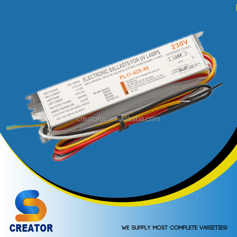 Creator PL11 series 42-48w 49w Electronic Aquarium UV lamp ballast