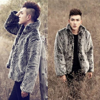 Fashionable Newest design 2016 Man Fake rex fur coat winter fox fur jacket