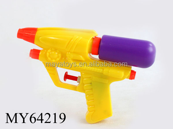 Assorted Plastic Toy On Yellow Surface: Summer Toy Pp Plastic Solid Color Cheap Water Gun Assorted