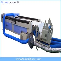 FW-1600 x 3000mm auto feeding fabric laser cutting machine with roller