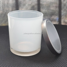 frosted glass for candle jar making with lid
