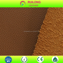 Imitation genuine lychee faux leather fabrics textile and leather product