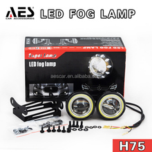AES hot sale Universal H75 model led fog light, auto accessories HID projector fog light lamp