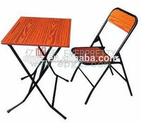 Cheap folding study table and chair,child reading table foldable