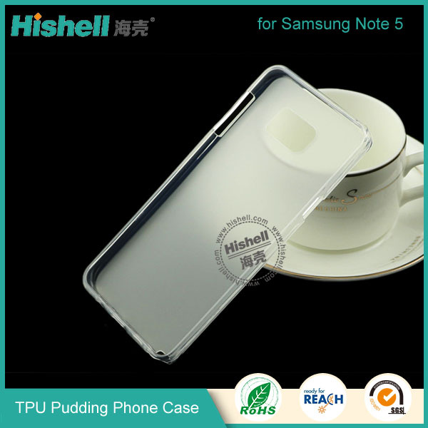 China factory wholesale TPU pudding Case for samsung Note 5