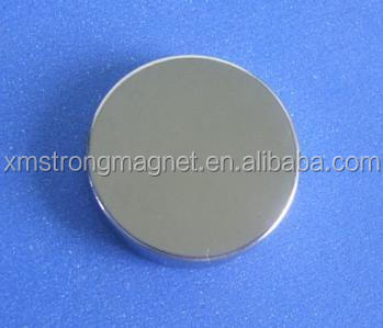 OEM N40H disc sintered permanent neodymium magnet with nickel coating NdFeB motor magnets