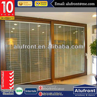 aluminum frames fire protection sliding door with tinted glass for villa
