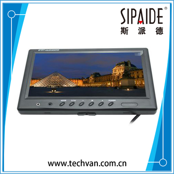 "SPD77 9"" TFT LCD Color 800 x 480 Car Monitor 9 Inch Screen With Widescreen Remote Support 2CH Video Input For Rear View Camera"