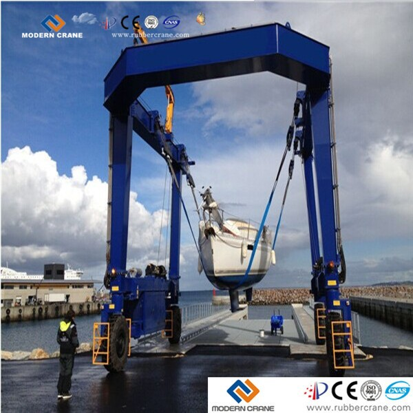 CE approved slewing system hydraulic or electric boat lifting crane