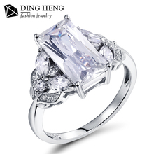 New Fashion 925 Sterling Silver Cubic Zirconia Engagement Wedding Ring For Women