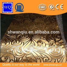 WQ 3D wave embossed mdf board with 1220*2440mm/1220*2800mm size for wall decoration