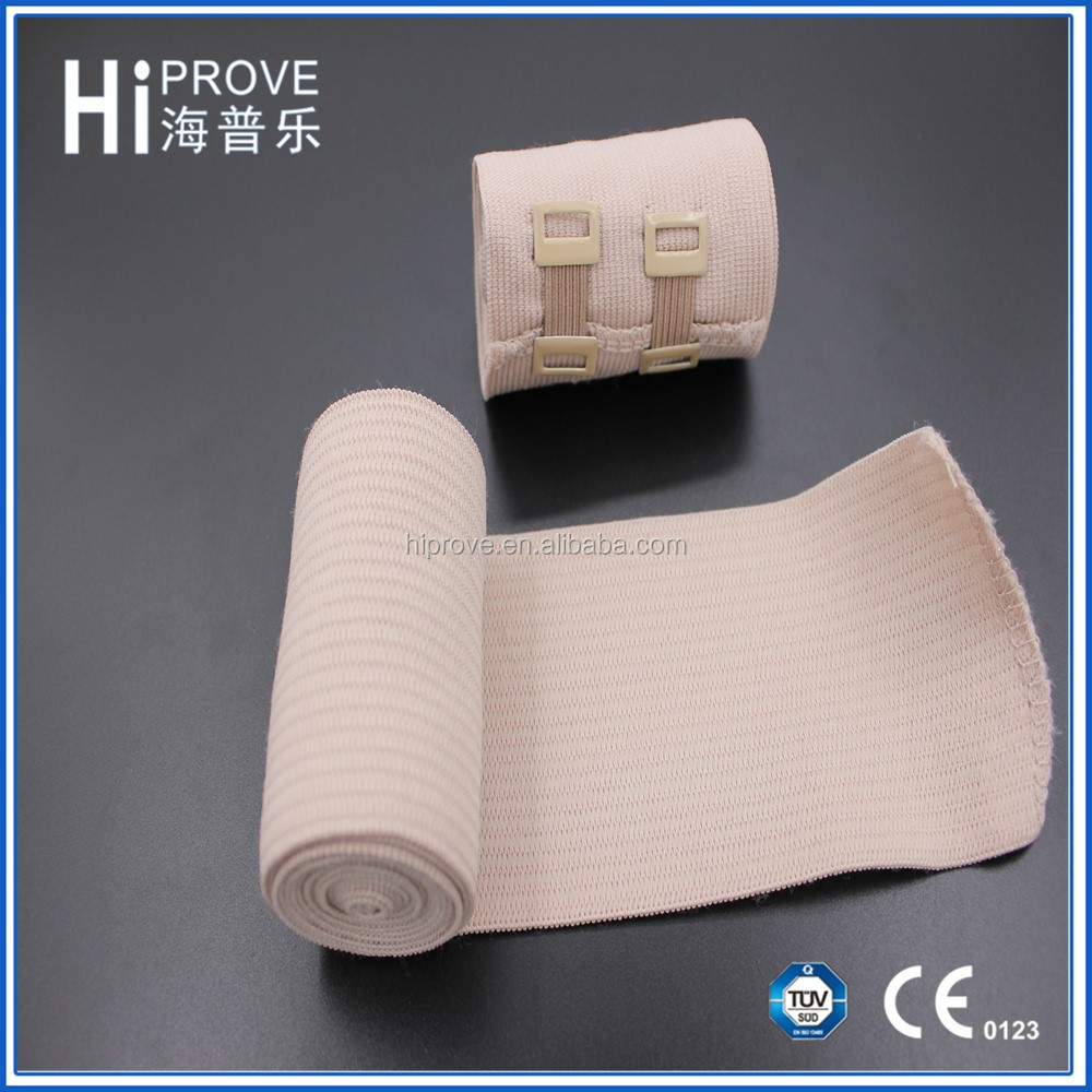 latex or latex free cotton crepe bandage size high elastic bandage with clip