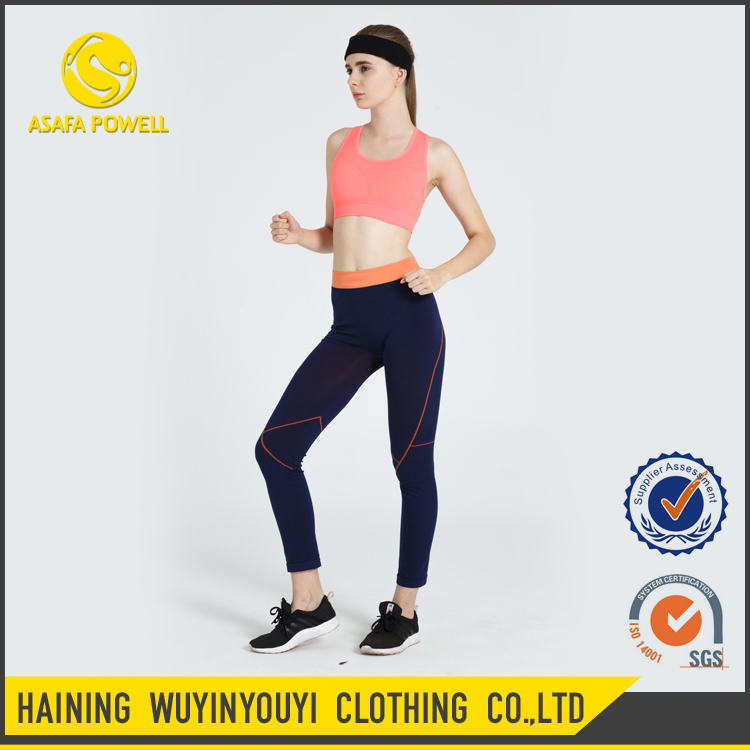 High quality wholesale athletic wear nylon and spandex fitness compression sports bras for women