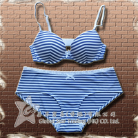 Women Blue Cotton Bra and Panty Latest Design