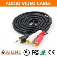 AiLINE 3.5mm Jack Audio Cable to 2RCA Audio AV Male to Male Cable for Car Stereo