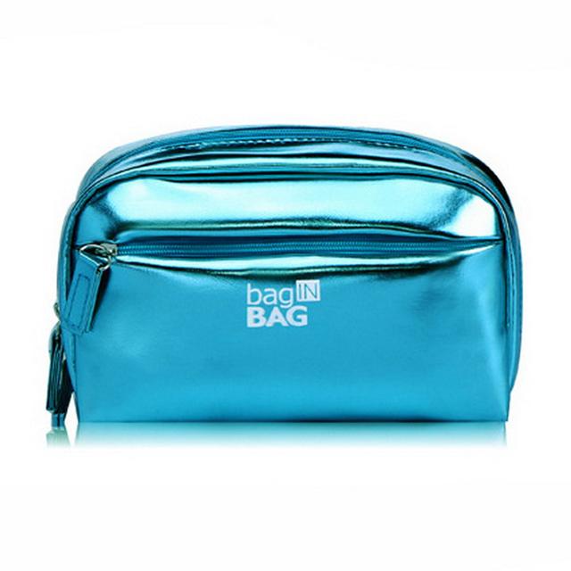 Fashion Custom Waterproof PU Leather Makeup Case Travel Toiletry Bag