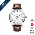 Hot selling men watch design 40mm quartz or automatic movement high quality watches own brand leather watch men