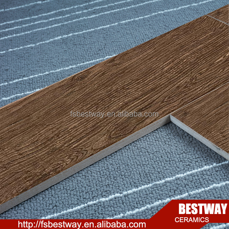 Retro look glazed surface wood imitation floor tile ceramic tile