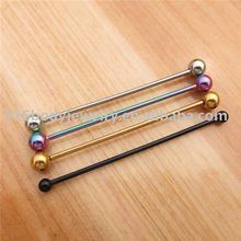 fashion fake industrial piercing jewelry stainless steel barbell industrial piercing jewelry