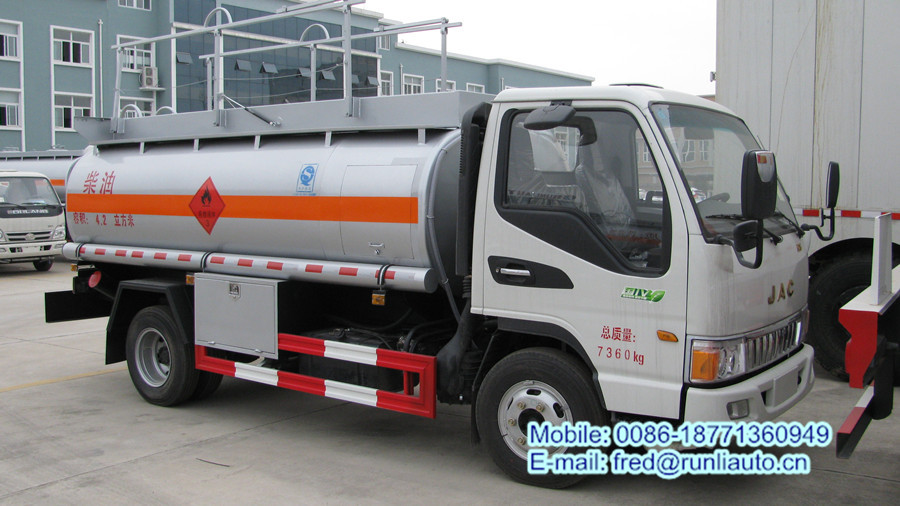 JAC 4 cbm oil tank truck fuel dispensing trucks aircraft refueling trucks