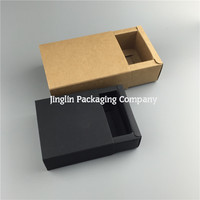 Brown Drawer Paper Box with clapboard Essential oil Bottle Lipstick Perfume Packaging Kraft Boxes
