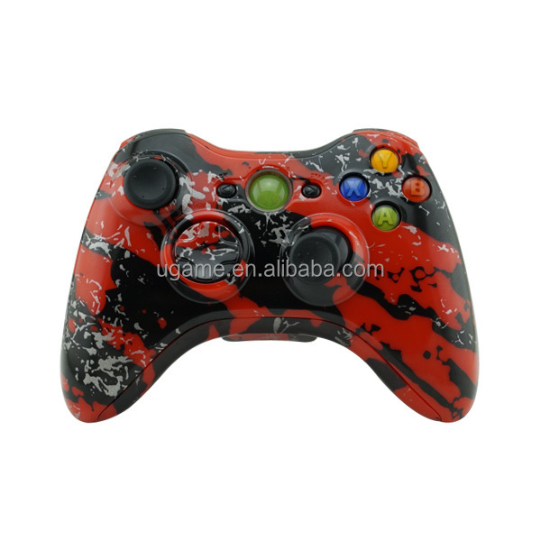 Red Splatter Shell Complete Kits for Xbox 360 Controller Shell