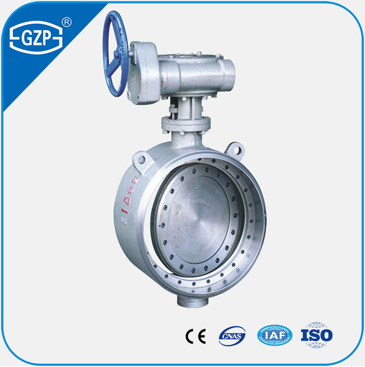 API Standard Metalic Seal Handle Turbine Drive Butt Welded Joint Butterfly Valve