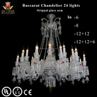 24 Lights Baccarat Chandelier Finished In