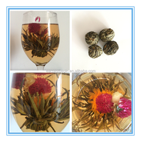 Hot Sale 2016 New Chinese 100% Handmade Blooming Flower Green Tea Ball