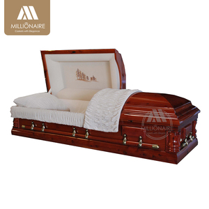 Hot selling wooden cremation casket coffins