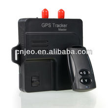 2014 new product fuel and temperature sensor car security gps device with 2pcs remote controller