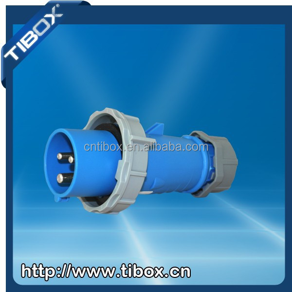 TIBOX 2015 hot selling industrial plug with CE Certification 16A 32A 63A 125A 250A 420A 380V 5A waterproof industrial plug