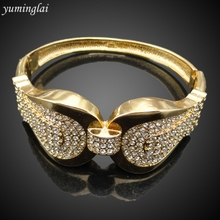 Latest Design CZ Copper Fashion Bangle European and American punk style Fashion Jewelry Bracelet GHK949