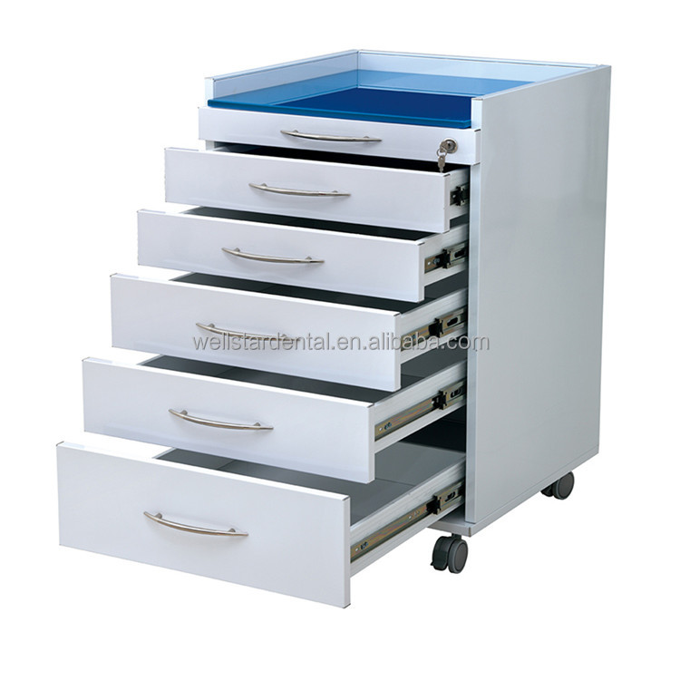Dental clinic mobile stainless cabinet