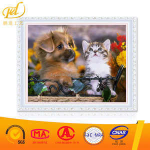 DIY Diamond Painting Cute Puppy Cross Stitch Wall Embroidery Resin Square Diamond Mosaic Animal MQ202