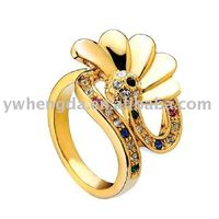 Top Quality Gold Fine Jewelry Rings Gold Plated flower Ring Women Jewelry gold Stainless Steel rings