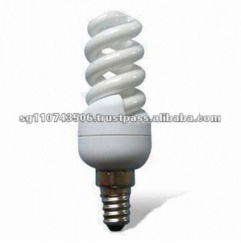 5 to 9W Power Range and 400lm Luminous Flux T2 Energy-saving Slim Full Spiral CFL