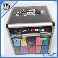 One Piece Print Mini durable easy-carrying aluminum acrylic sorting box Jewelry box cosmetic case