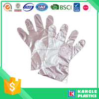 2016 new disposable pe glove for haircut