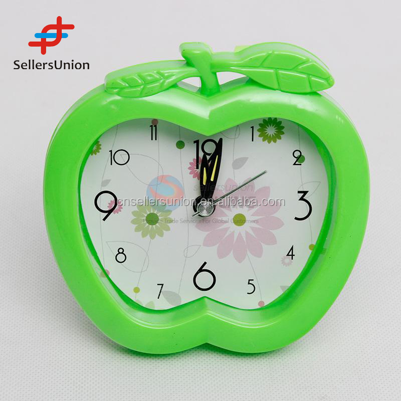 2016 No.1 Yiwu agent hot sale commission sourcing agent cute design Apple Shaped Alarm Clock