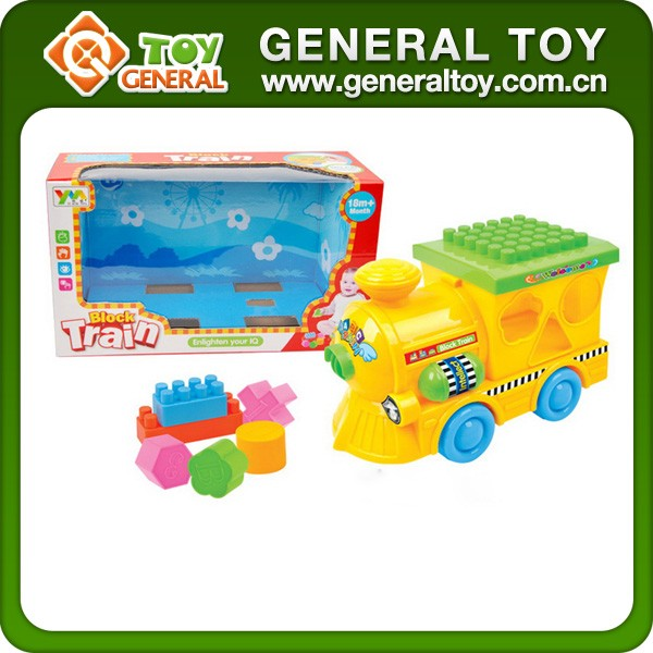 Funny Plastic Friction Train Toys Building Blocks Train Set