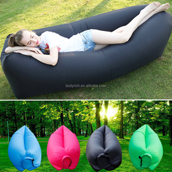 Inflatable Lounger Outdoor Air Sofa Indoor Inflatable Chair with Carry Bag Nylon Fabric