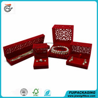 Customized Top quality cool design Chinese style velvet sets jewelry gift box