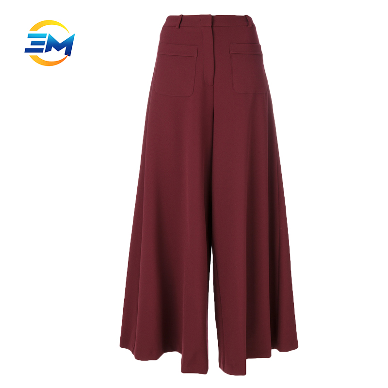 Custom top quality bell bottom trousers cutting cotton blend tunic loose ninth pants