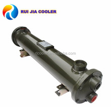 Hydraulic oil cooler for lubrication system heat exchanger
