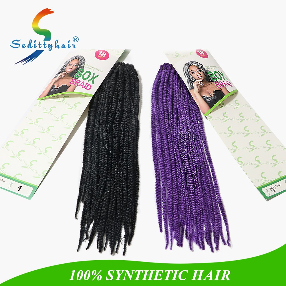Hot selling Seditty BOX BRAID TWIST synthetic crochet braids twist with senegalese twist hair